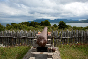 The cannons, Fort Bulnes, Patagonia