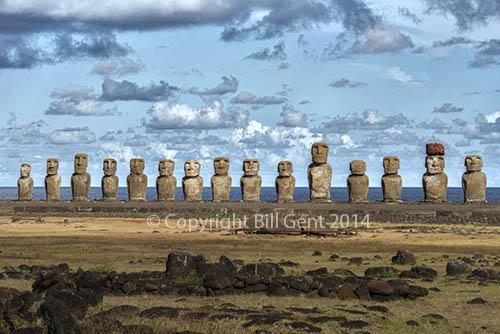 The Ahu Tongariki, Rapa Nui, Easter Island