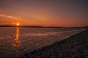 Sunset as seen from Elsah, Illinois
