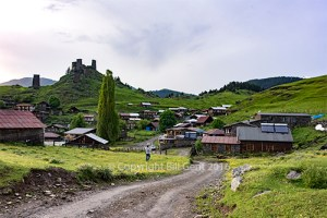 Entering the village of Omalo, Tusheti
