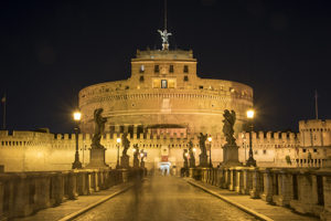 Ponte Sant'Angelo leading to the Castel Sant'Angelo, Rome