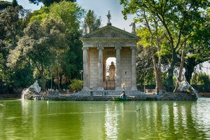 Villa Borghese gardens, Giardino del Lago