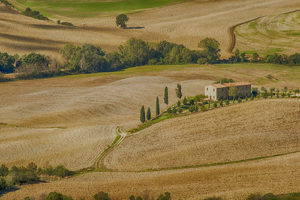 Iconic image of Pienza, Tuscany