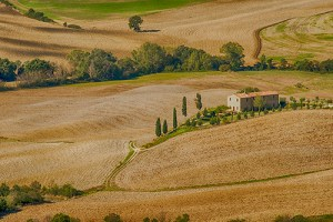 Iconic image of Pienza, Tuscany