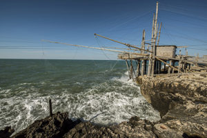 The traditional fishing equipment in the Abruzzo.