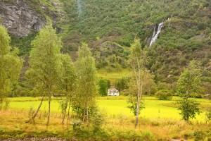 Brekkefossen waterfall, Flåm