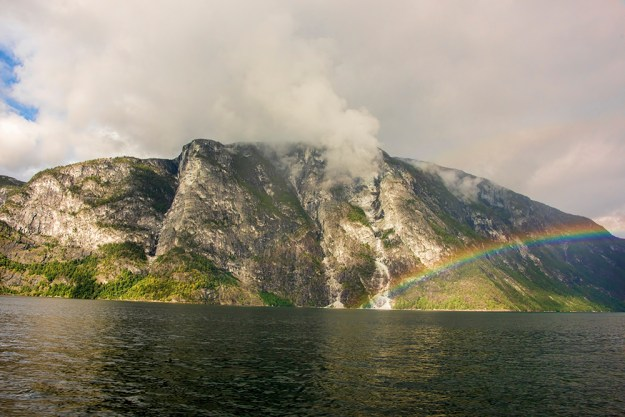 Rainbow over the fjord