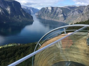 Looking over the fjord from the Stegastein Viewpoint