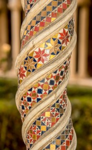 A pillar in the cloister of San Paolo Fuori le Mura