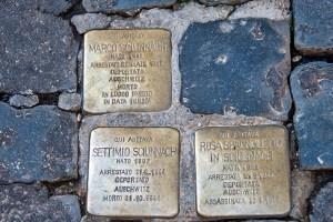 Three stumbling stones in Rome's former Ghetto