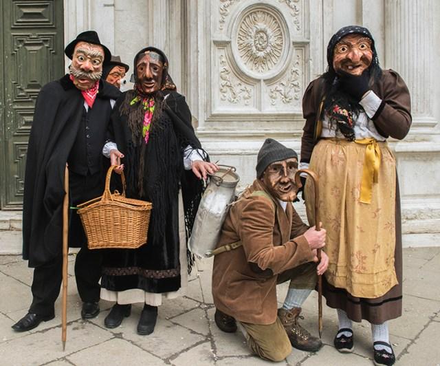 Masked villagers at Festa del Toro, Venice ©BillGent