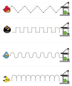 Angry Birds printables for pre-K and Kindergarten