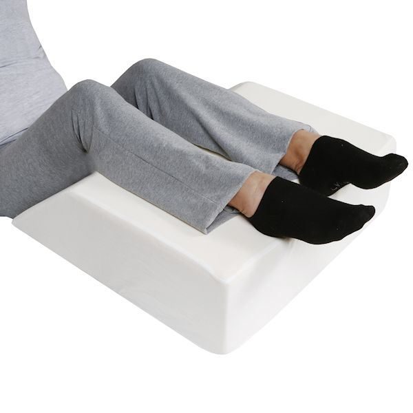 support plus elevated leg wedge pillow memory foam cushion cover 17 wide
