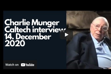 Charlie Munger: CalTech interview 14. December 2020