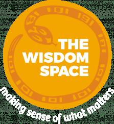 The Wisdom Space Logo white