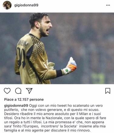 Donnarumma Instagram