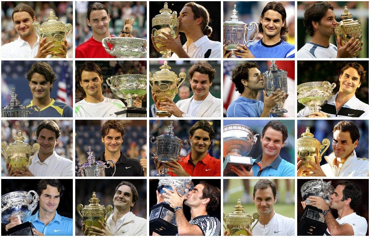 Le 20 finali vinte da Roger Federer, re degli Slam