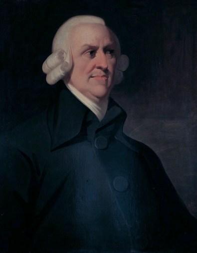 """Adam Smith, autore de """"La ricchezza delle Nazioni"""" fu un sostenitore della dieta vegetariana."""