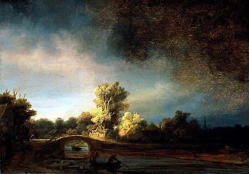 rappresentazione di paesaggio del 1600