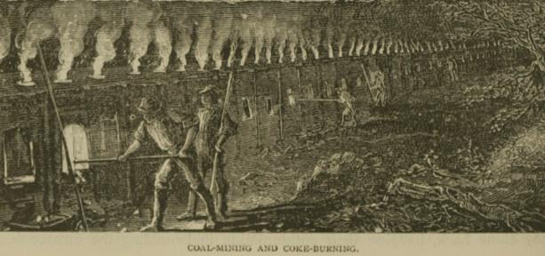 Illustrazione raffigurante la produzione di coke.