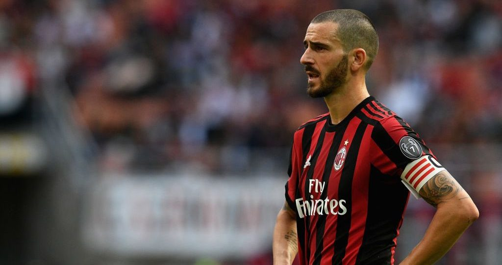 Leonardo Bonucci, ex-capitano del Milan. Foto: Claudio Villa/Getty Images.