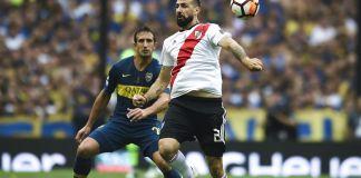 Foto del Superclasico tra Boca Juniors e River Plate. Foto: Getty Images.