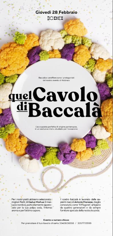Quel cavolo di baccalà: l'evento cult di Dodici a febbraio