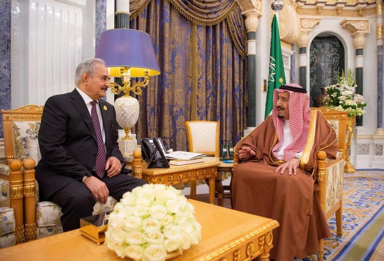 haftar re arabia saudita