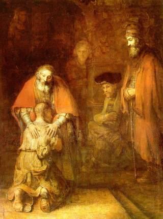 Rembrandt - il ritorno del figliol prodigo (1669)