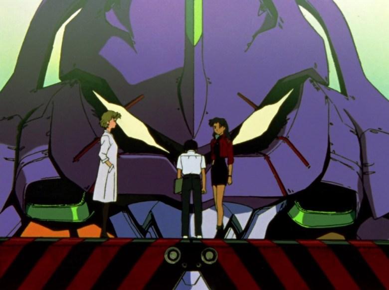 Shinji Evangelion anime Unità 01