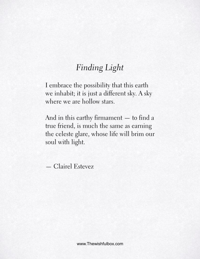 Inspirational Friendship Poems