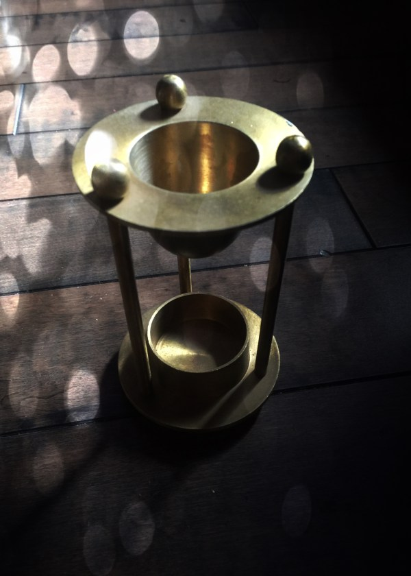 Oil Warmer Vintage Brass