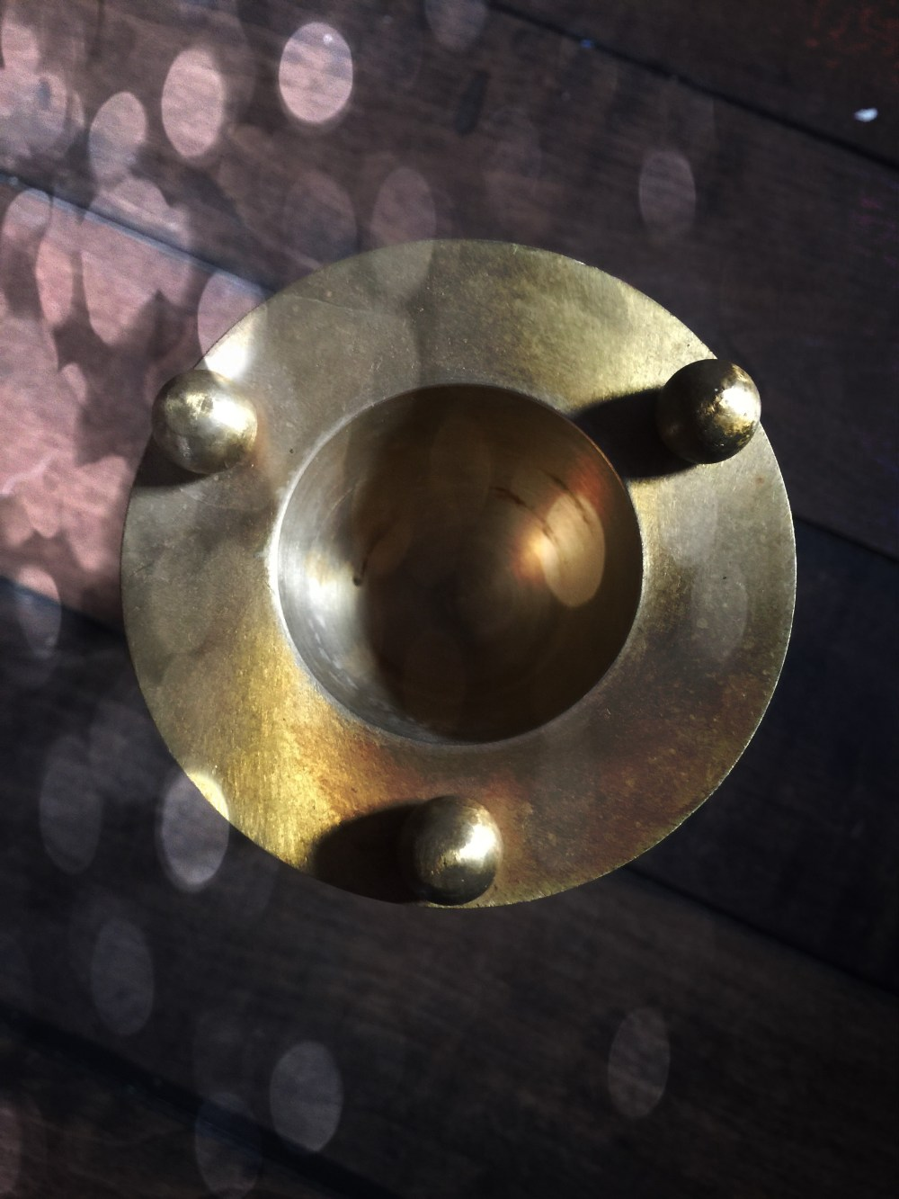 Oil Warmer Vintage Brass
