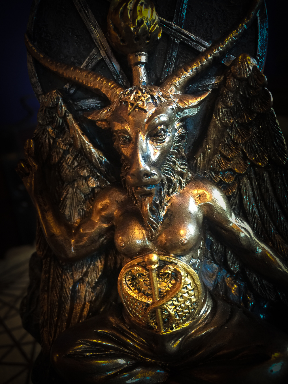 Baphomet Waterfall Incense Burner