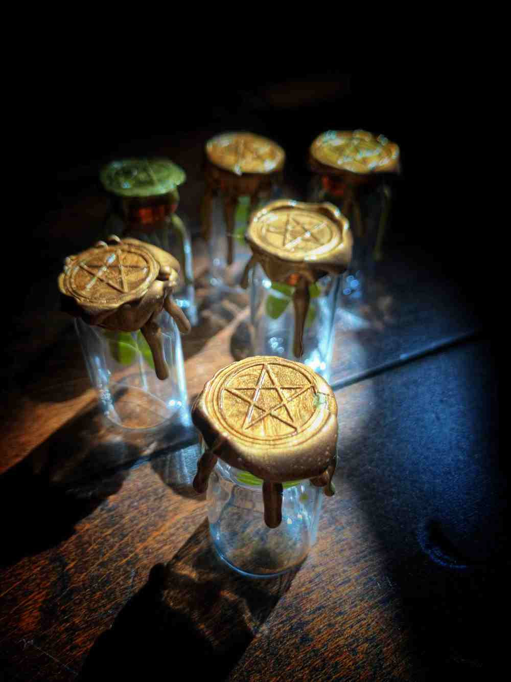 Four Leaf Clover Reliquary Witch Bottle