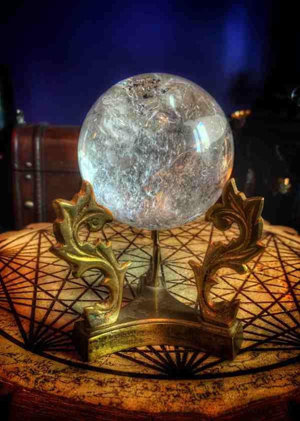 Crystal Ball & Vintage Stand