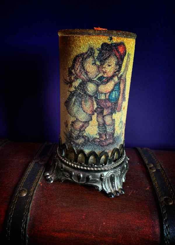 Friendship Healing Vintage Sugar Candle