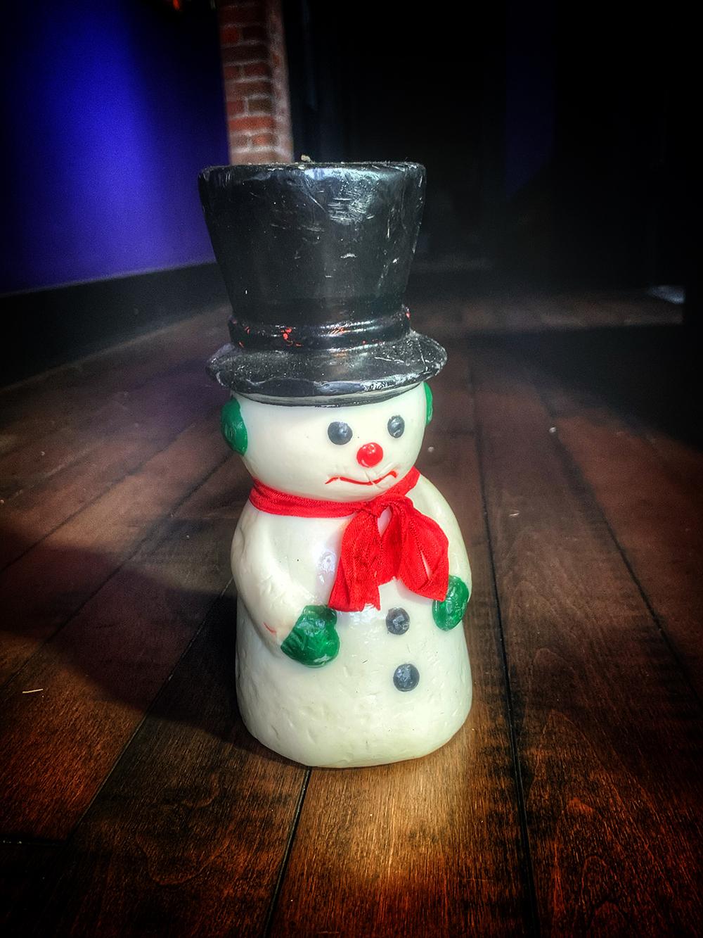 Vintage Snowman Candle