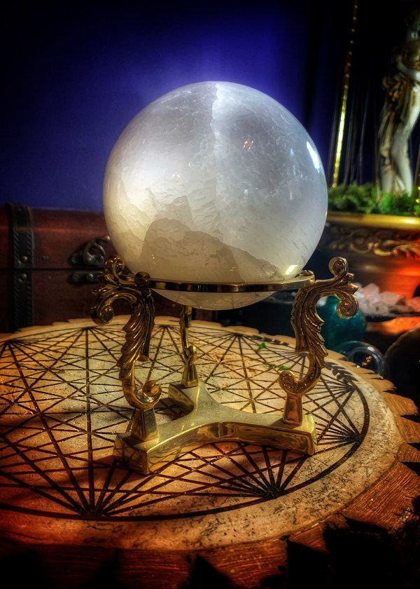 Selenite Moon Sphere