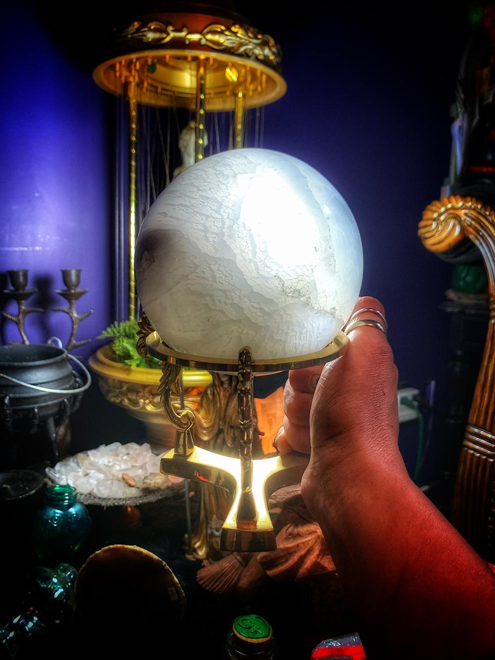Selenite Moon Sphere