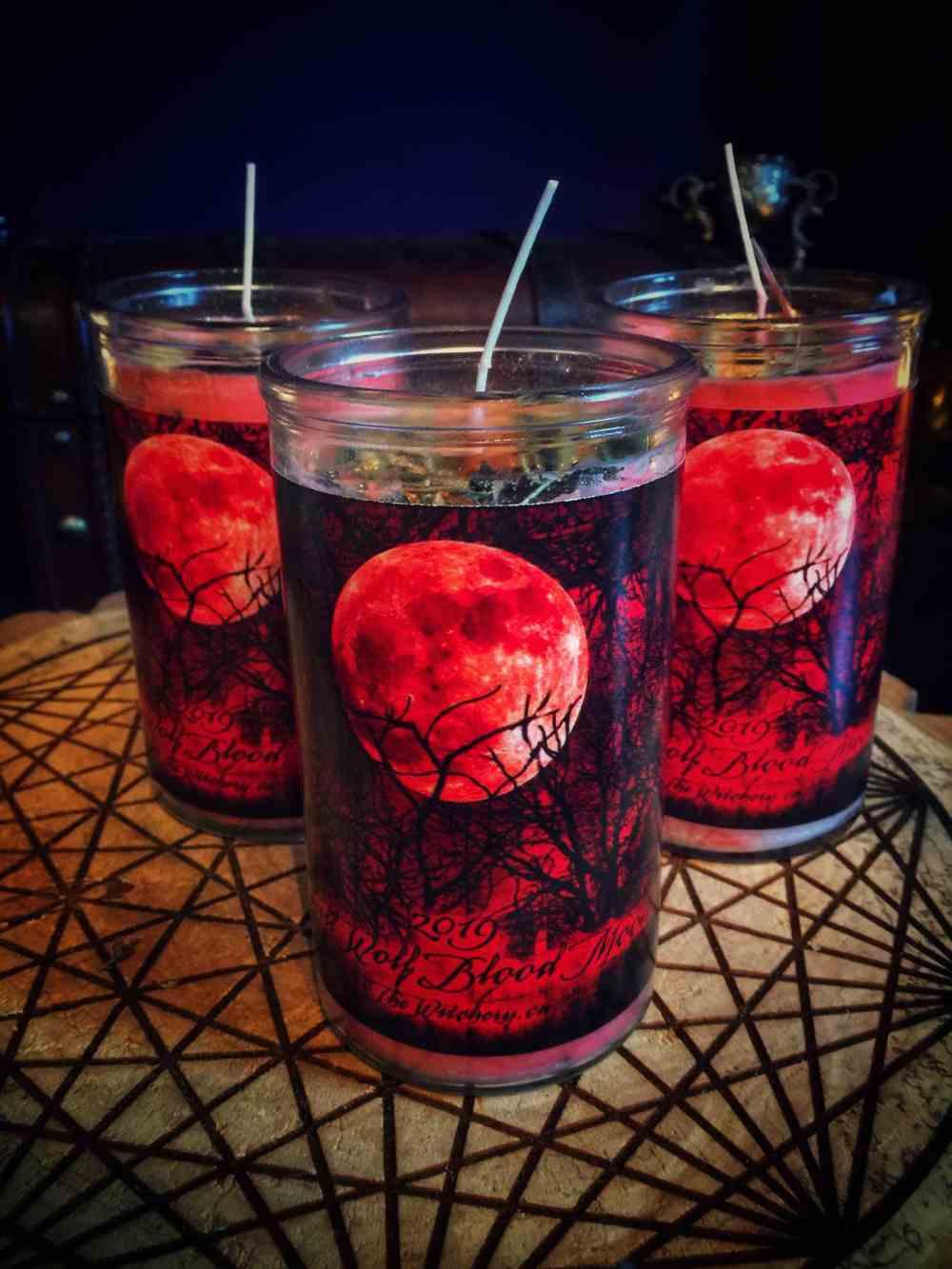 2019 Full Blood Moon Vigil Candle