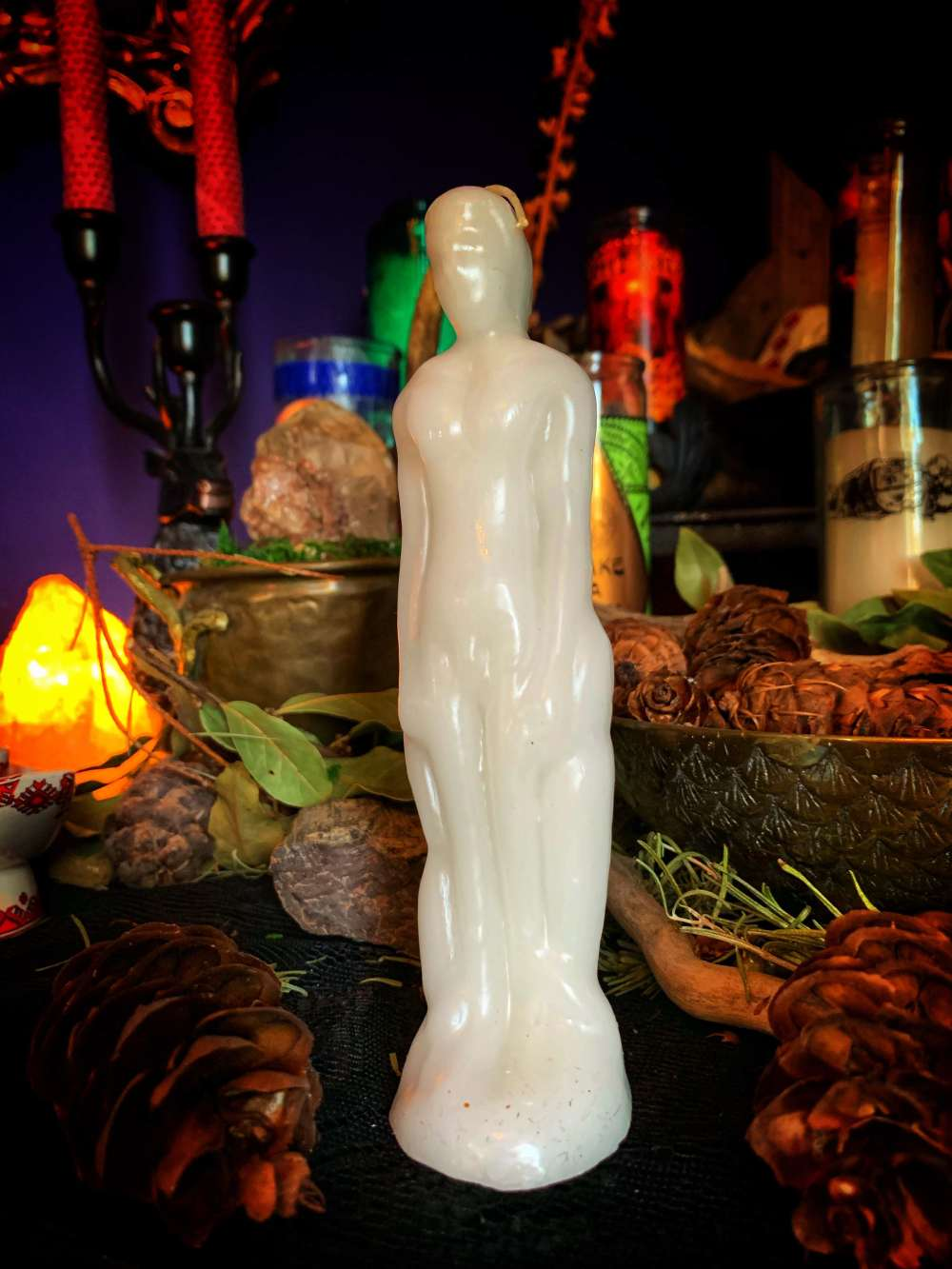 Figure Candle White