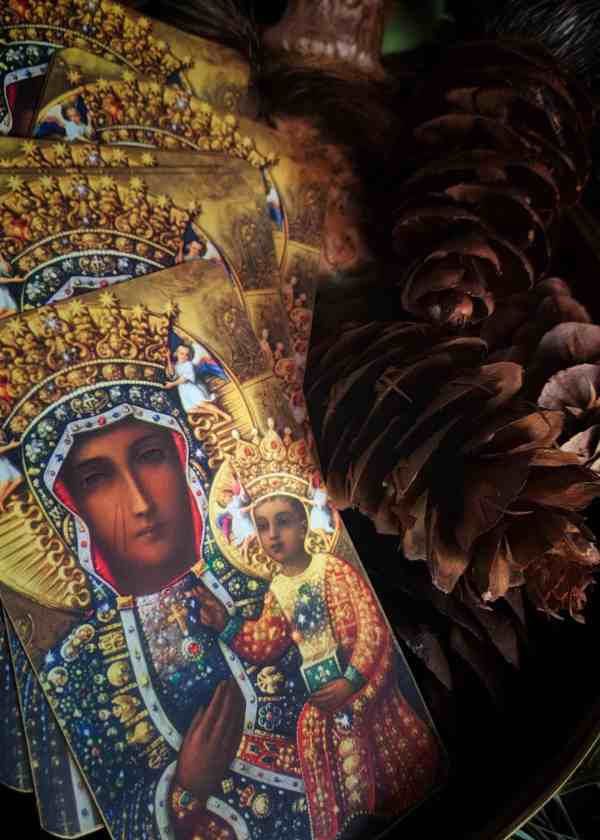 Black Madonna Holy Card // Our Lady of Częstochowa Prayer Card
