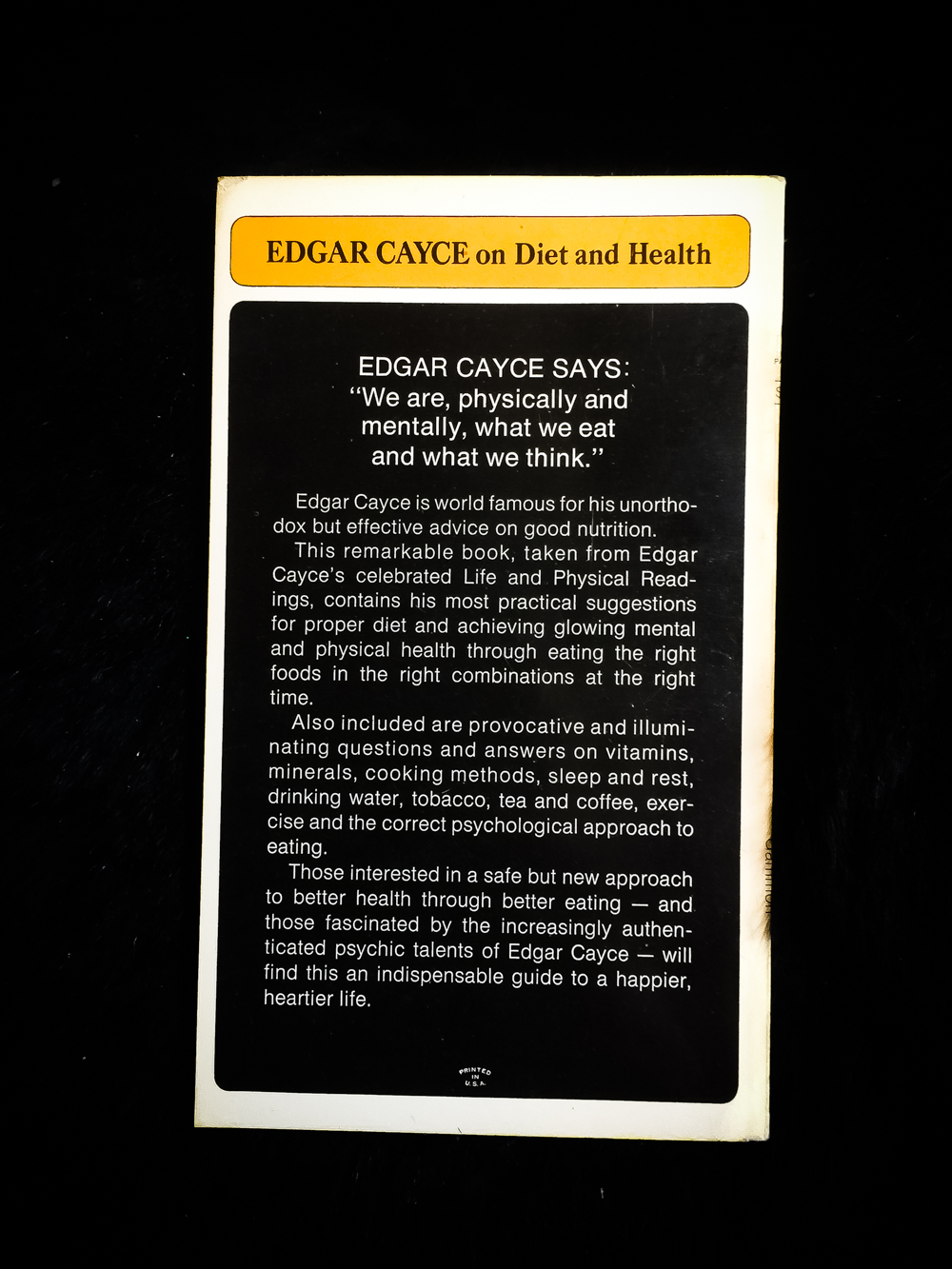 Edgar Cayce on Diet and Health