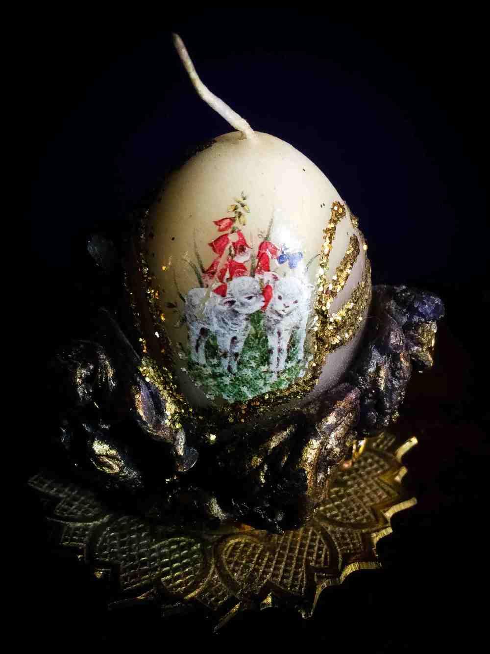Egg Candle Vintage