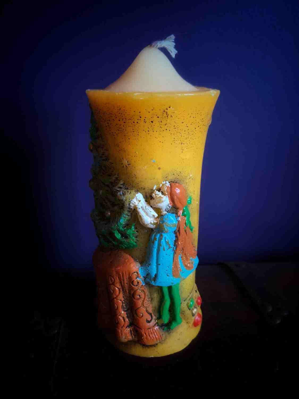 Vintage Christmas Tree Candle