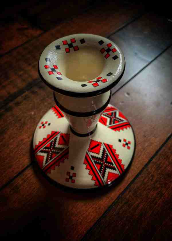 Candle Holder Vintage Slavic Surprise