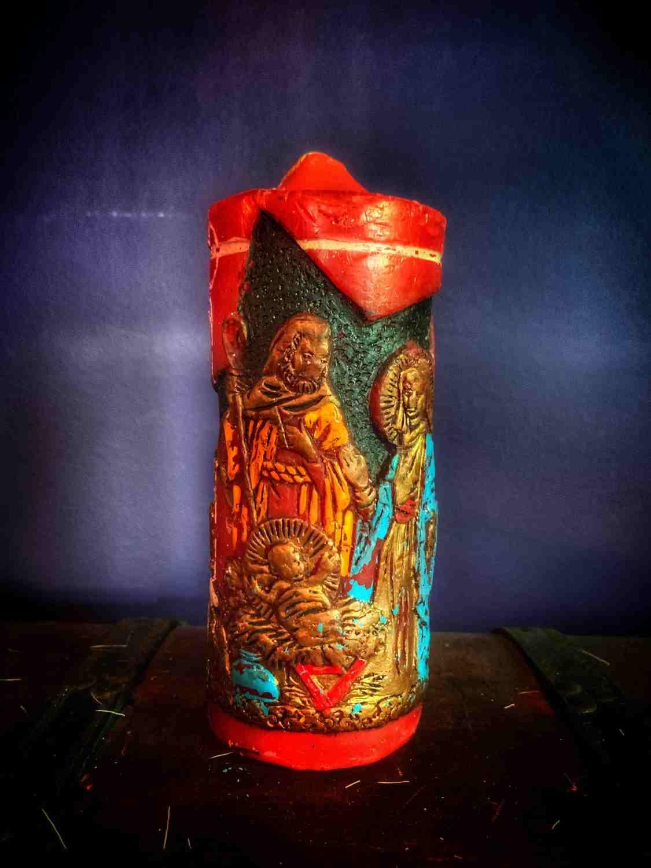 Wise Men Yule Candle Vintage
