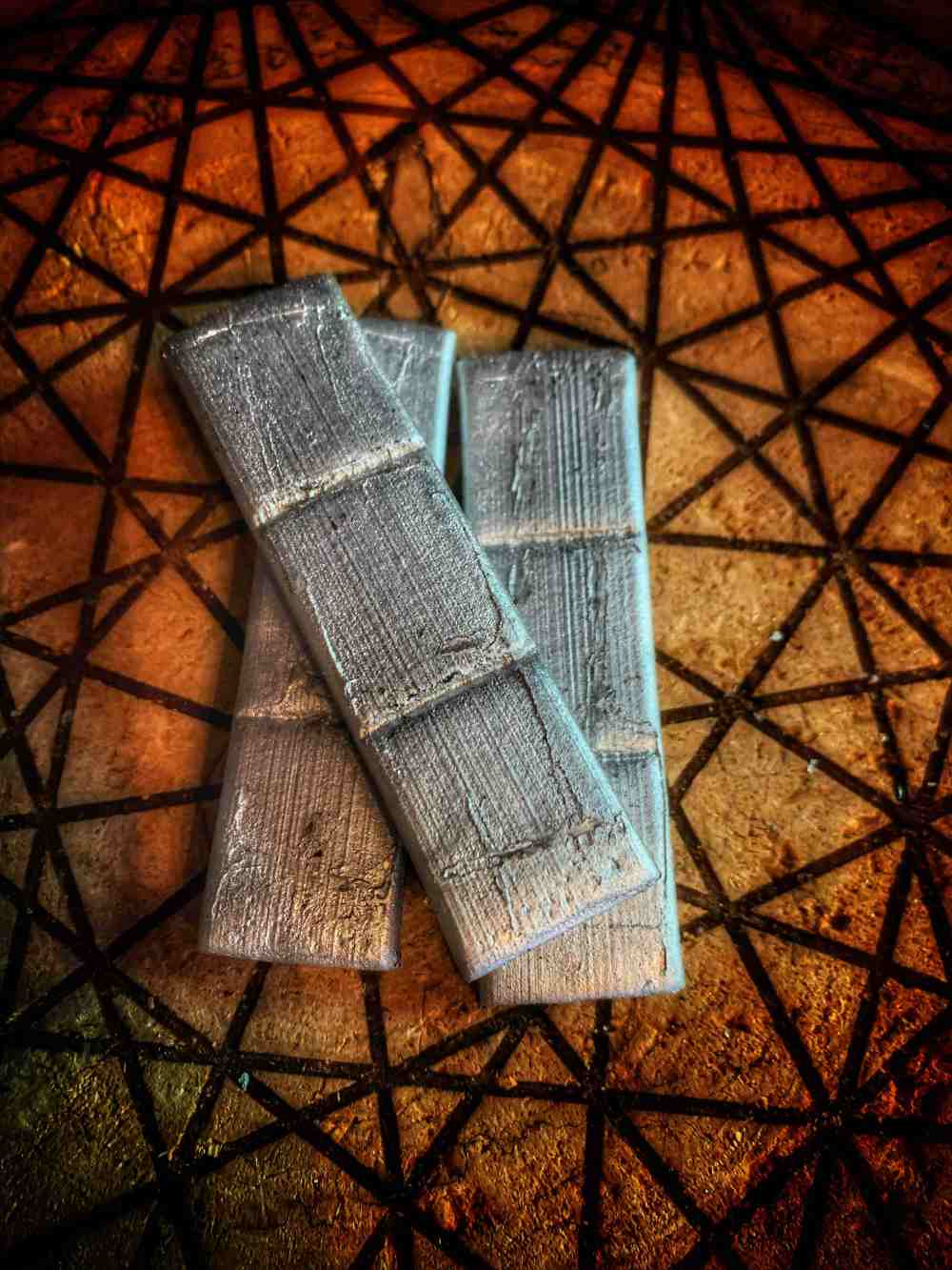 Charcoal Bamboo Squares