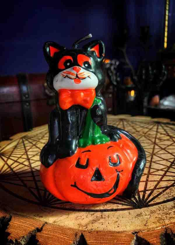 The Cat Pumpkin Candle Vintage